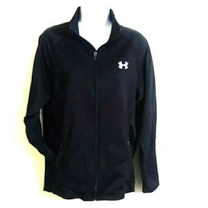 Under Armour Full Zip Jacket Loose Black Small